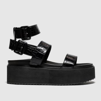 Public Desire Black Kodie Womens Sandals