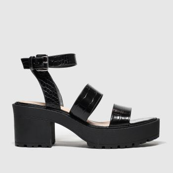 Public Desire Black Buffalo Womens Sandals