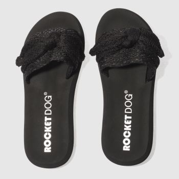 ROCKET DOG BLACK SAYONARA SANDALS