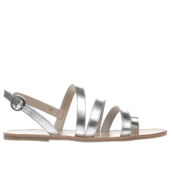 Red Or Dead Silver MAUDE Sandals
