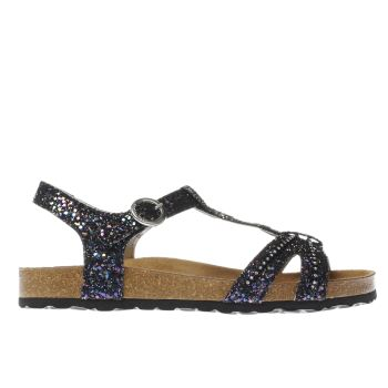 RED OR DEAD BLACK & PURPLE GLENDA GLITTER SANDALS