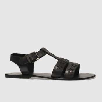 Red Or Dead Black Eddie Womens Sandals