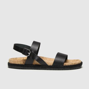RED OR DEAD Black Flo Womens Sandals
