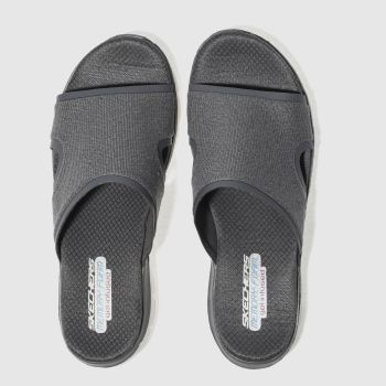 Skechers Grey Flex Appeal 2.0 Summer Jam Womens Sandals
