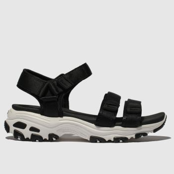 Skechers Black & White Dlites Fresh Catch Womens Sandals