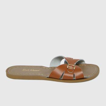 Salt-Water Tan Slide Womens Sandals