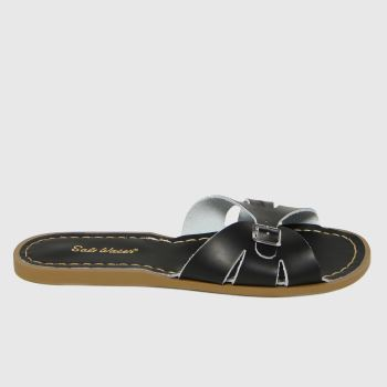 Salt-Water Black Slide Womens Sandals