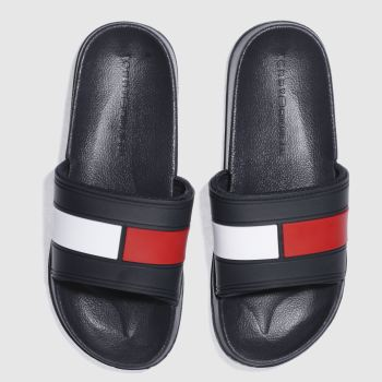 Tommy Hilfiger Navy & White FLAG POOL SLIDE Sandals