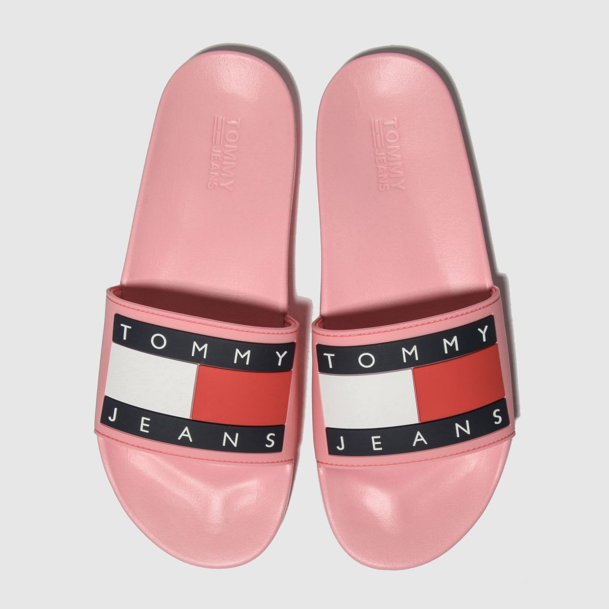 Tommy Hilfiger Pink Tj Flag Pool Slide Sandals