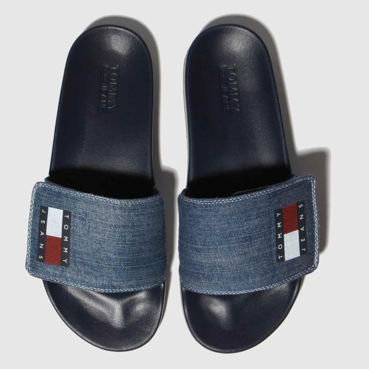 Tommy Hilfiger Blue Tj Denim Pool Slide Sandals