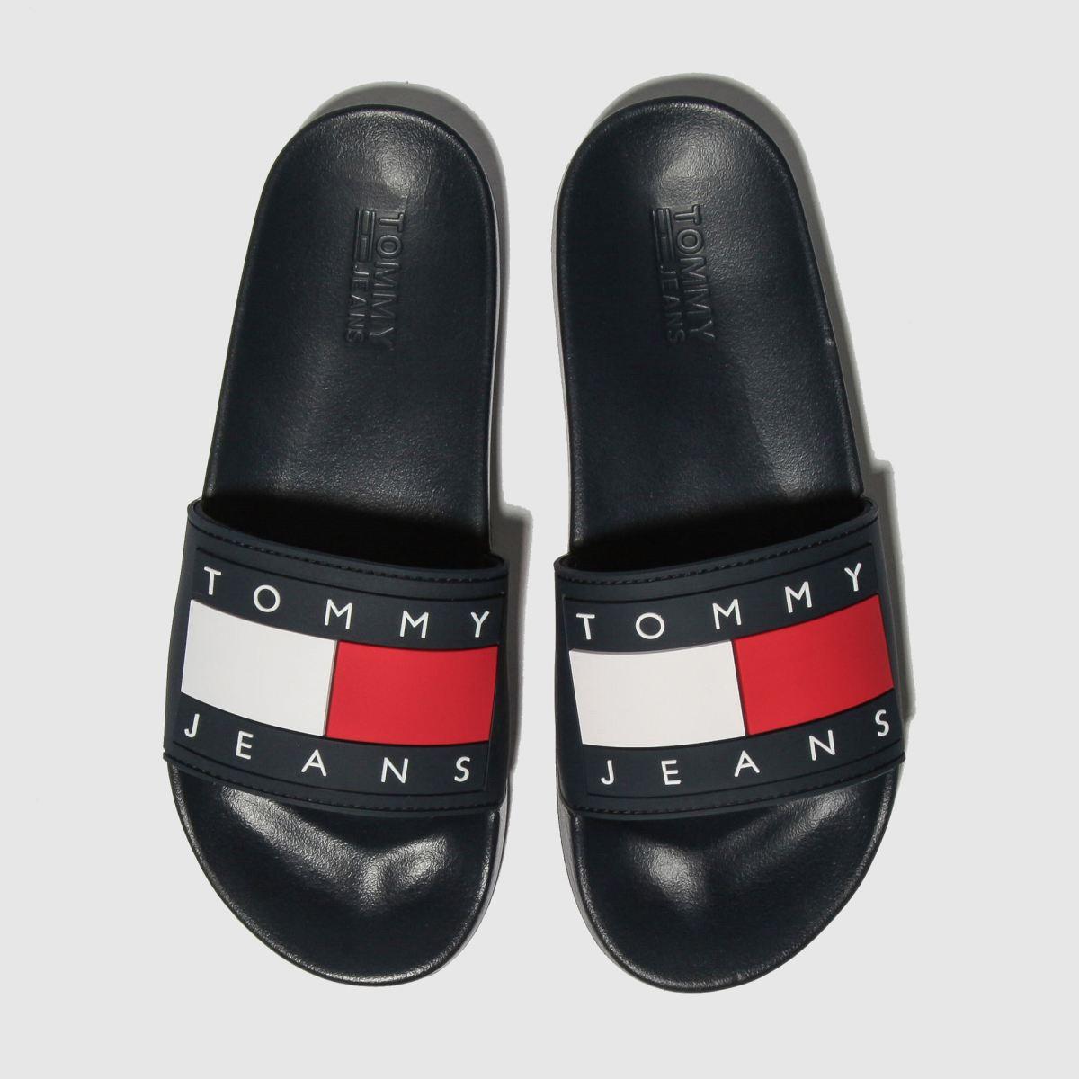 Tommy Hilfiger Navy Tj Flag Pool Slide Sandals