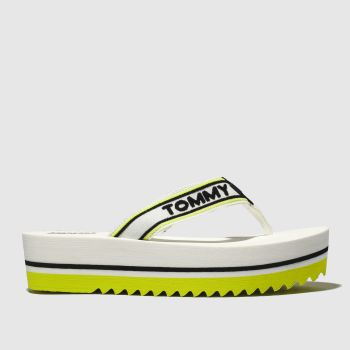 Tommy Hilfiger White Tj Pop Webbing Mid Beach Womens Sandals