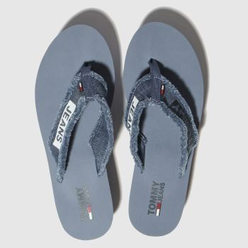 Tommy Hilfiger Blue Tj Denim Mid Beach Womens Sandals
