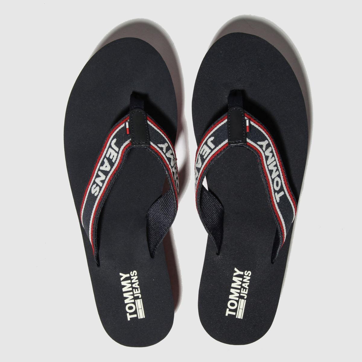 Tommy Hilfiger Navy Tj Pop Webbing Mid Beach Sandals
