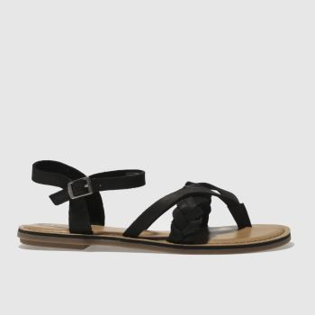 TOMS BLACK LEXIE SANDALS