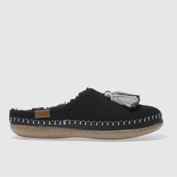 Toms Black Ivy Slipper Womens Slippers