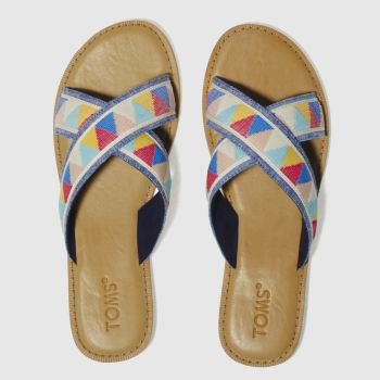 Toms Blue & Beige Viv Womens Sandals