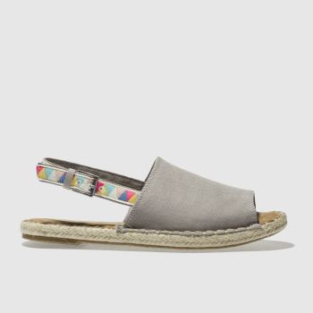 Toms Light Grey Clara Womens Sandals