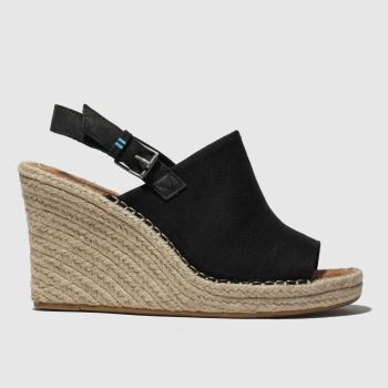 Toms Black Monica Womens Sandals