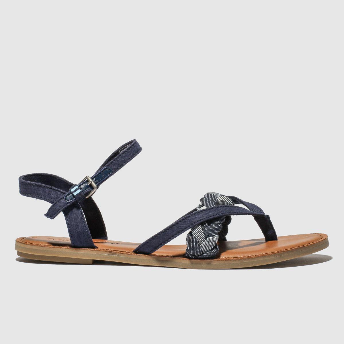 Toms Navy Lexie Vegan Sandals