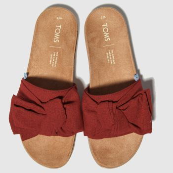 Toms Red Paradise Slide Womens Sandals#