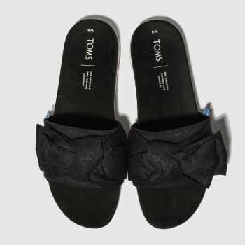 Toms Black & White Paradise Slide c2namevalue::Womens Sandals