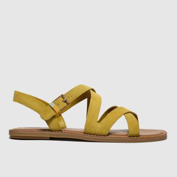 Toms Yellow Sicily Womens Sandals