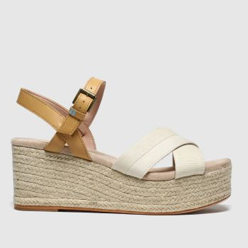 Toms Natural Willow Wedge Womens Sandals