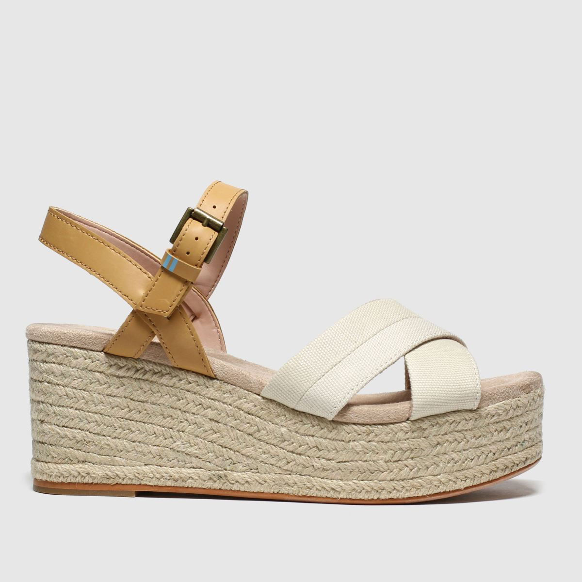 Toms Natural Willow Wedge Sandals