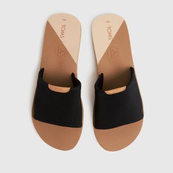 TOMS Black Carly Vegan Womens Sandals