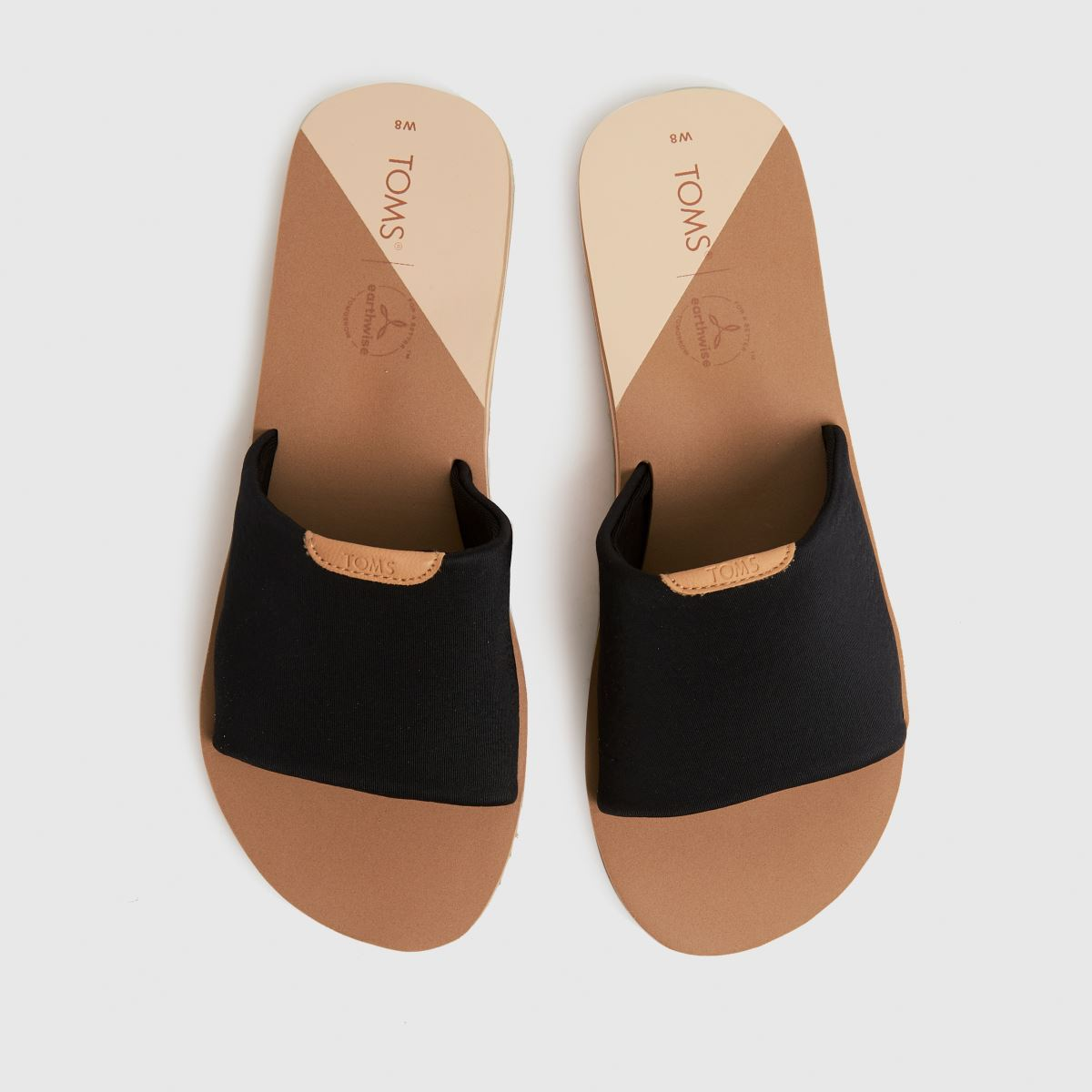 TOMS Black Carly Vegan Sandals