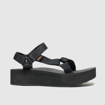 TeVa Schwarz Flatform Universal Damen Sandalen