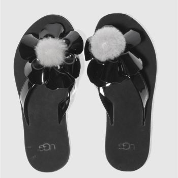 Ugg Black Poppy Womens Sandals