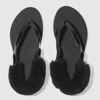 Ugg Black Laalaa Womens Sandals