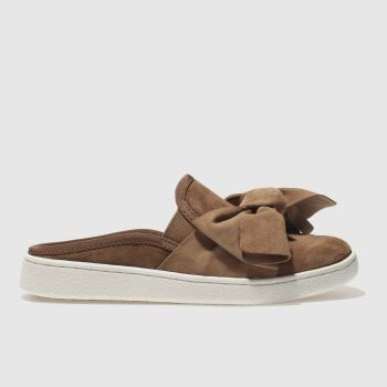 Ugg Tan Luci Bow Womens Flats