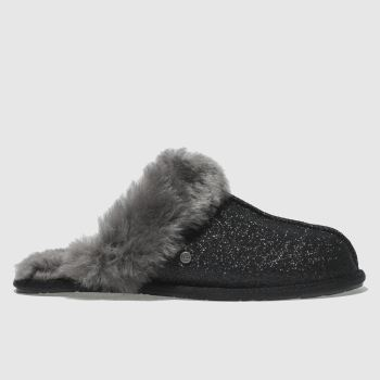Ugg Black Scuffette Ii Sparkle Womens Slippers