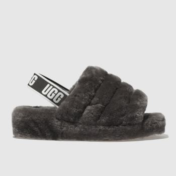 Ugg Grey Fluff Yeah Slide Womens Sandals