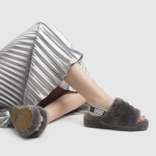 776a9ded8c9 ugg grey fluff yeah slide sandals