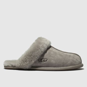 Ugg Light Grey Scuffette Ii Womens Slippers