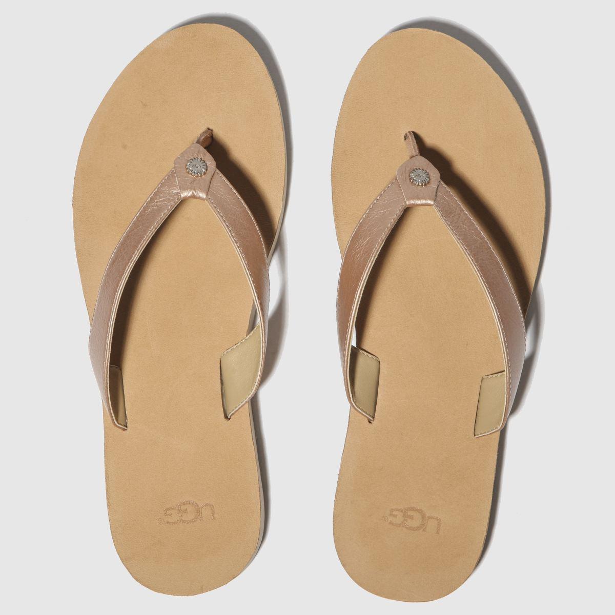 Ugg Pink Tawney Metallic Sandals