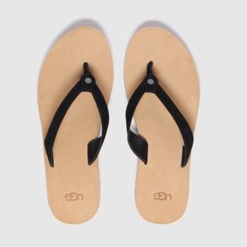 Ugg Black Tawney Womens Sandals#
