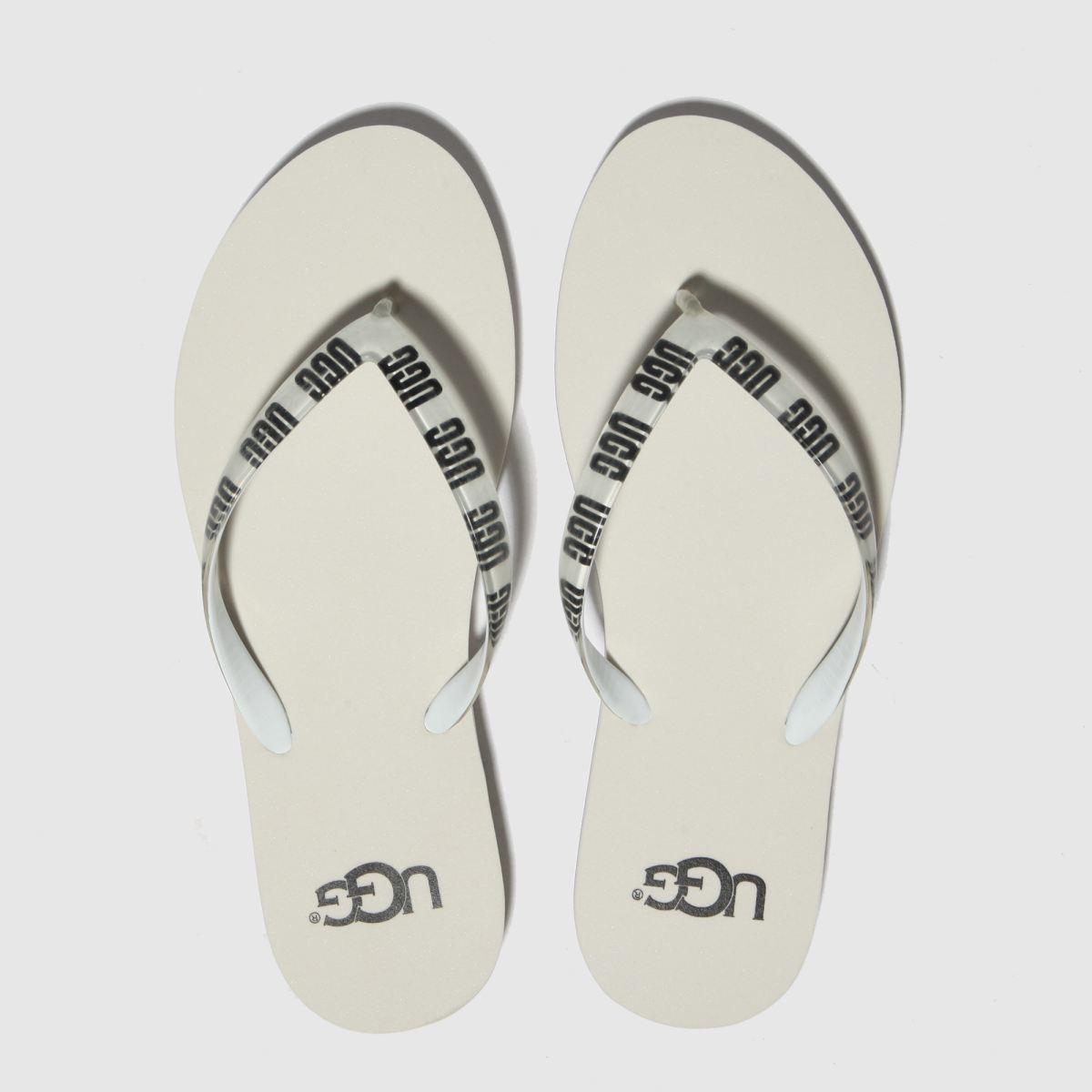 Ugg White & Black Simi Graphic Sandals