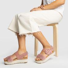 9dc488b632 womens pink ugg le fluff sandals | schuh