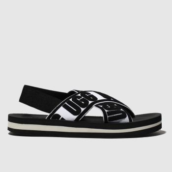 Ugg Black & White Marmont Graphic Womens Sandals