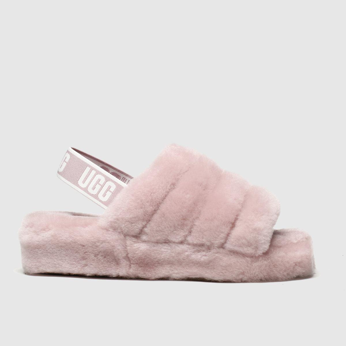 Ugg Pale Pink Fluff Yeah Slide Slippers
