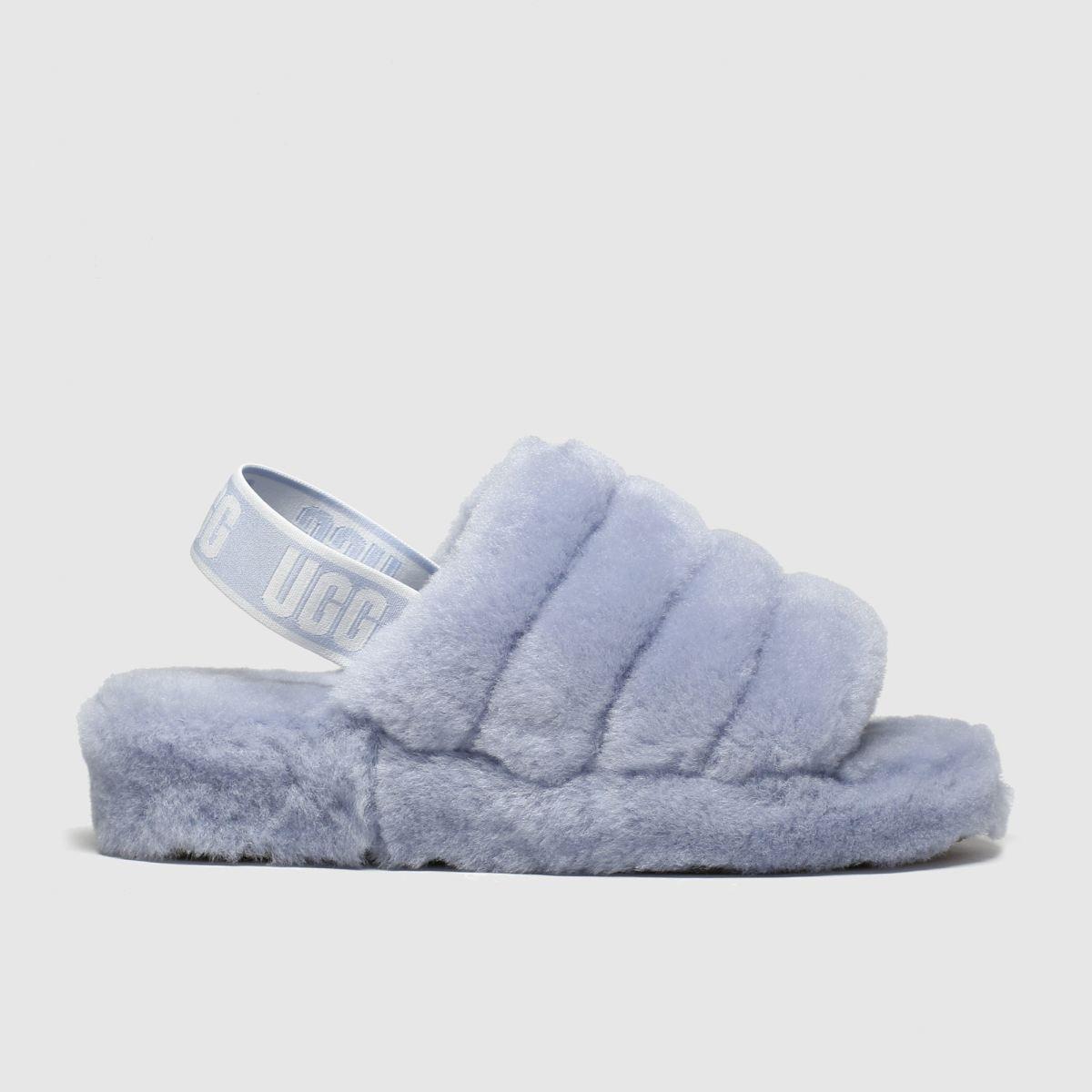 Ugg Pale Blue Fluff Yeah Slide Slippers