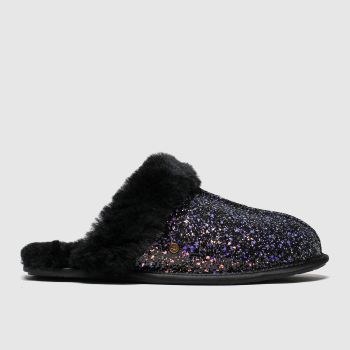 Ugg Black & Purple Scuffette Ii Cosmos Womens Slippers