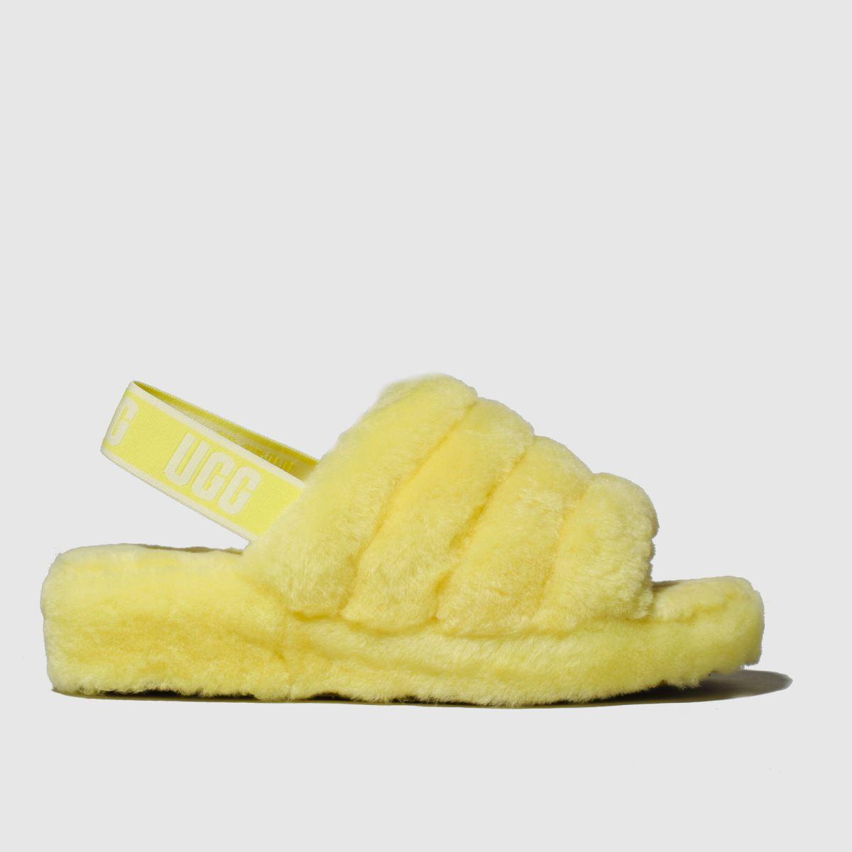 Ugg Yellow Fluff Yeah Slide Slippers