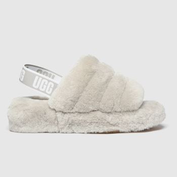 Ugg Grey Fluff Yeah Slide Womens Slippers#