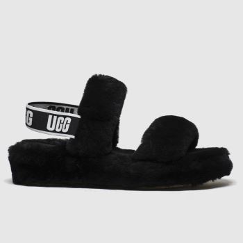 Ugg Black Oh Yeah Womens Slippers